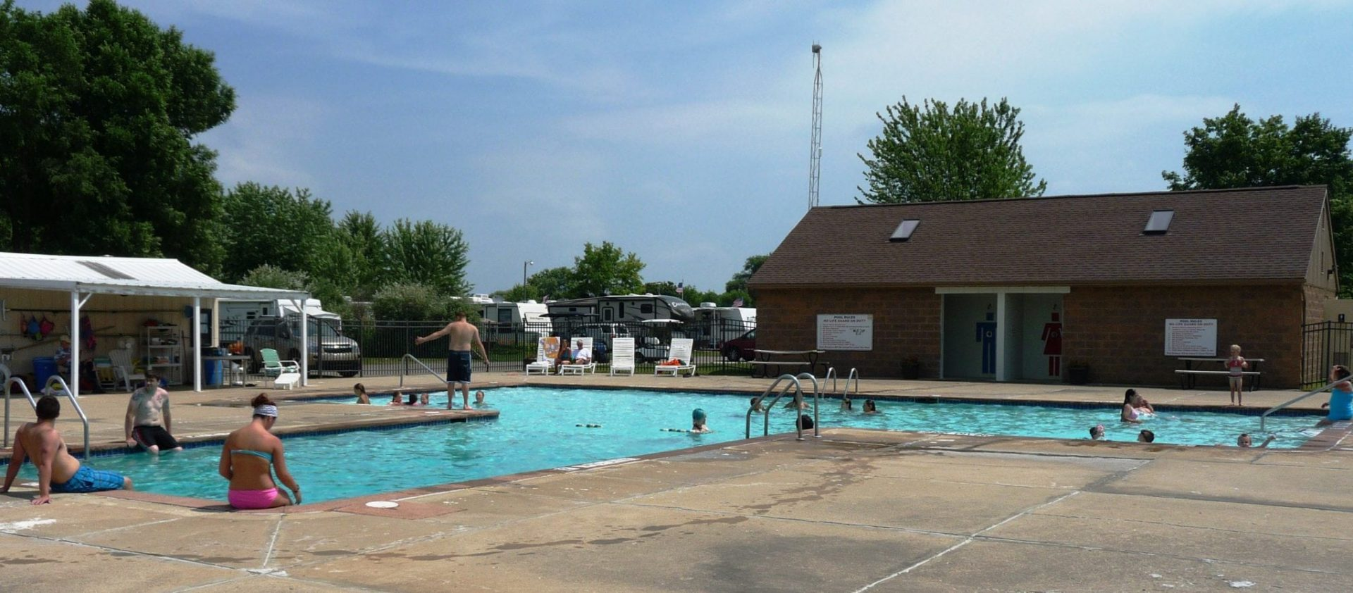 Refreshing Dip In The Pool Feels Cool Greenwood Acres