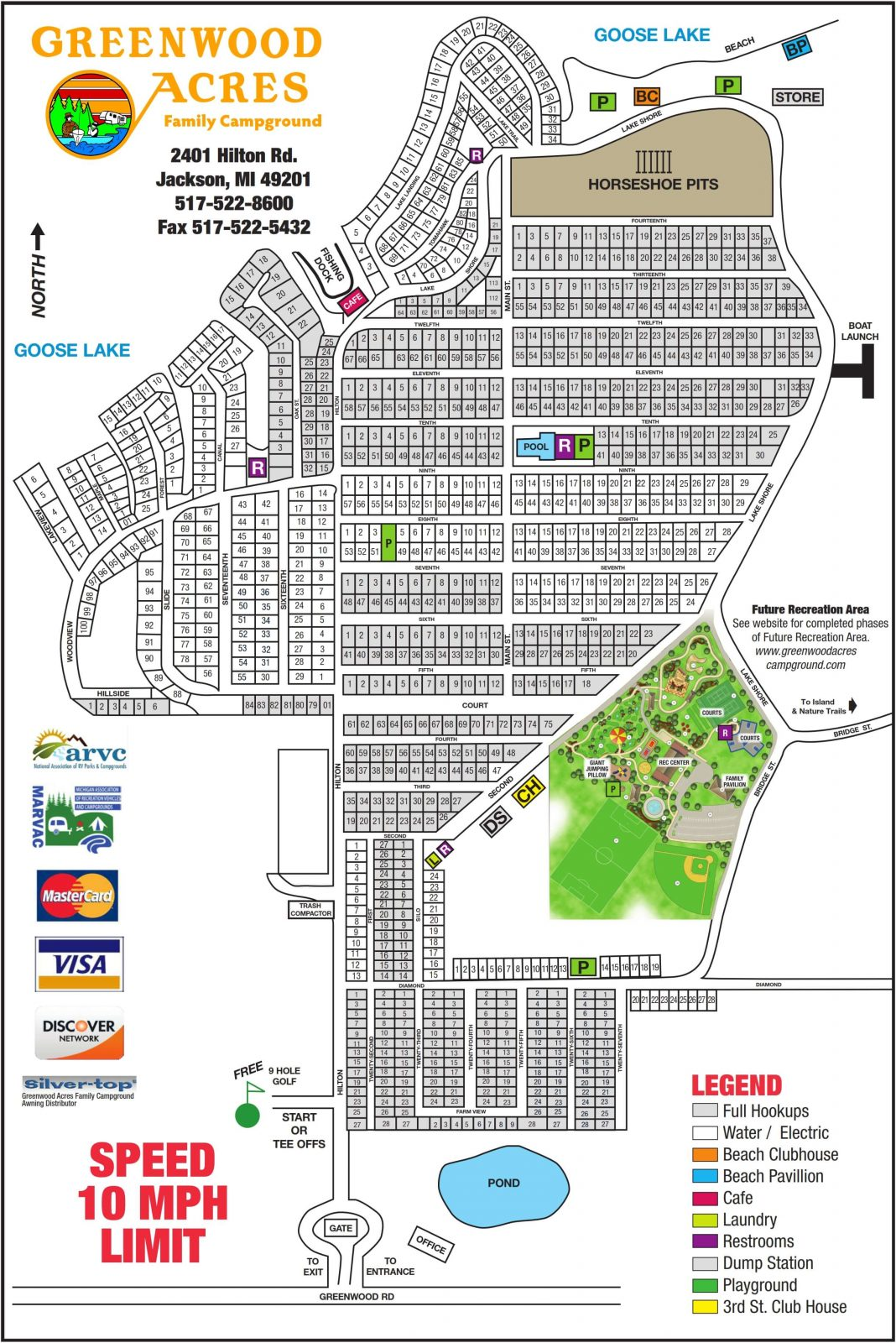 Sitemap - Greenwood Acres Family Campground on