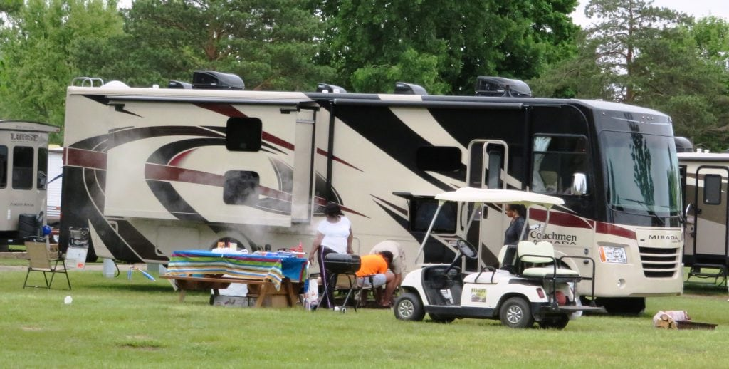 Overnight campers & Leisure Golf Cart