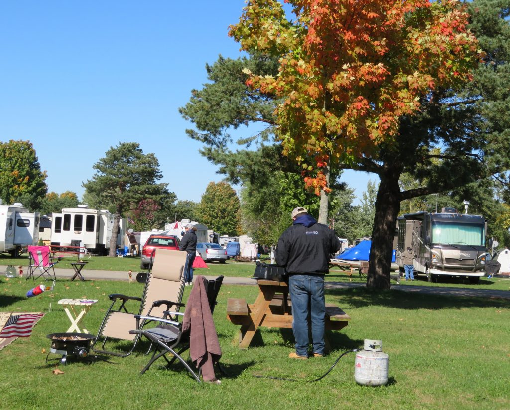 Fall camping on Court St.